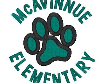 McAvinnue Elementary Embroidered Teacher Shirt -  McAvinnue Polo and Quarter Zip