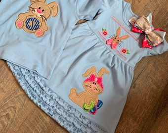 Toddler Sibling Easter Outfit - Toddler Girl Easter Dress - Toddler Boy/Girl Easter Shirt