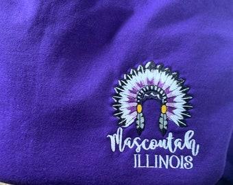 Mascoutah Illinois EMBROIDERED Sweatshirt - Mascoutah Quarterzip - Mascoutah Shirts