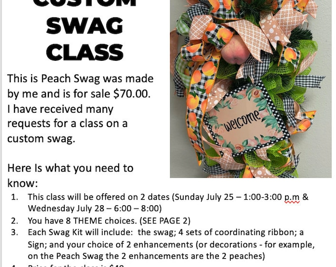Local Event - 34-38 inch Swag Class