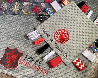 Personalized Game of Thrones Inspired Minky Baby blanket, Baby Game of Thrones Shower gift, Baby Blanket