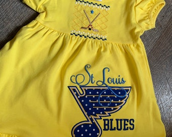 Toddler Sibling St Louis Blues Inspired Outfit - Toddler Girl Blues Dress - Toddler Boy/Girls Blues Shirt - Toddler Hockey Outfit