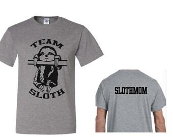 Sloth Family Shirts - Sloth Sibling Shirts - Team Sloth - Personalized Family Shirts