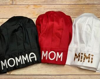 Personalized Chef Hats - Custom Red Chef Hat - Custom Black Chef Hat