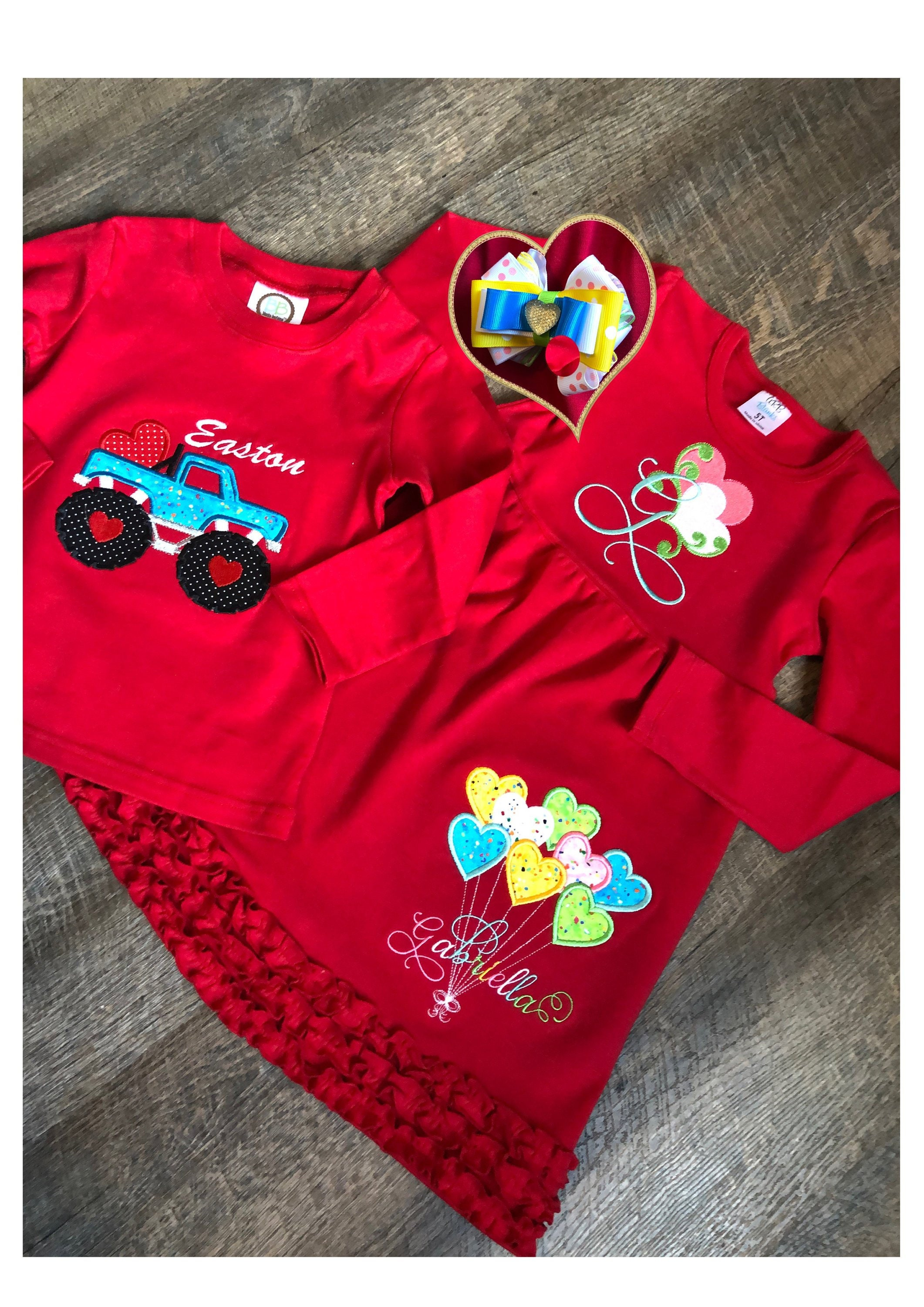 Toddler Sibling Valentines Day Outfit