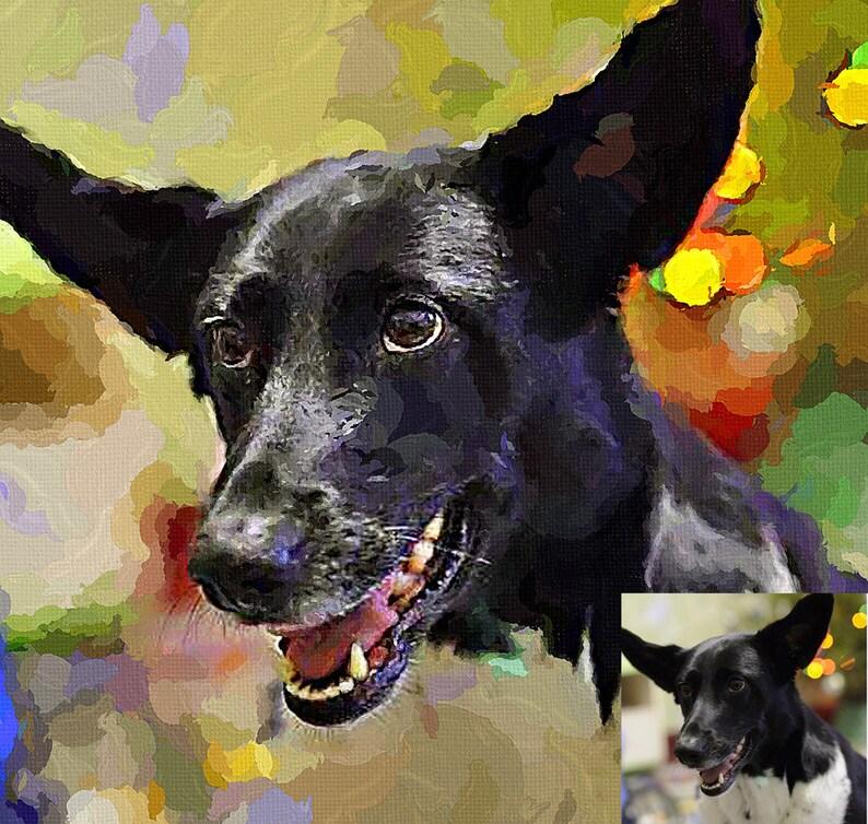 Personalized pet portrait Pet a portrait from photo Custom Pet portrait Digital dog portrait Digital cat portrait Print portrait From Photo