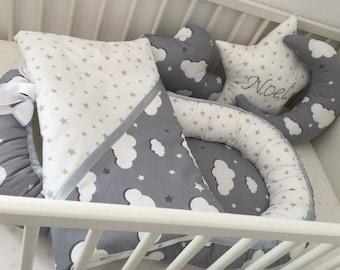 Big nursery set! Baby nest, blanket and 3 pillows
