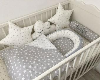 Big nursery set! Baby nest, Blanket, Pillows