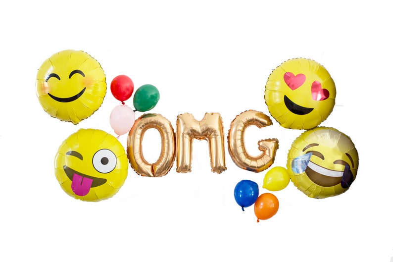 OMG Emoji Party Balloon Pack: Emoji Balloons and Party image 0