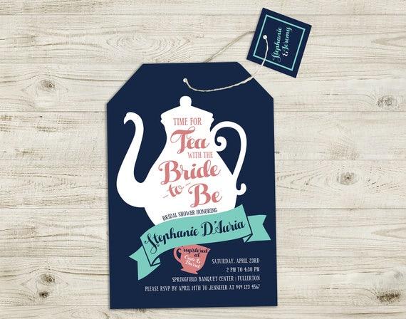 Digital bridal shower invitation tea with the bride tea etsy image 0 filmwisefo