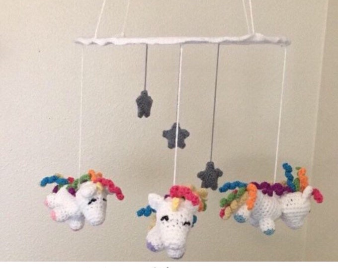 Crochet Unicorn Mobile