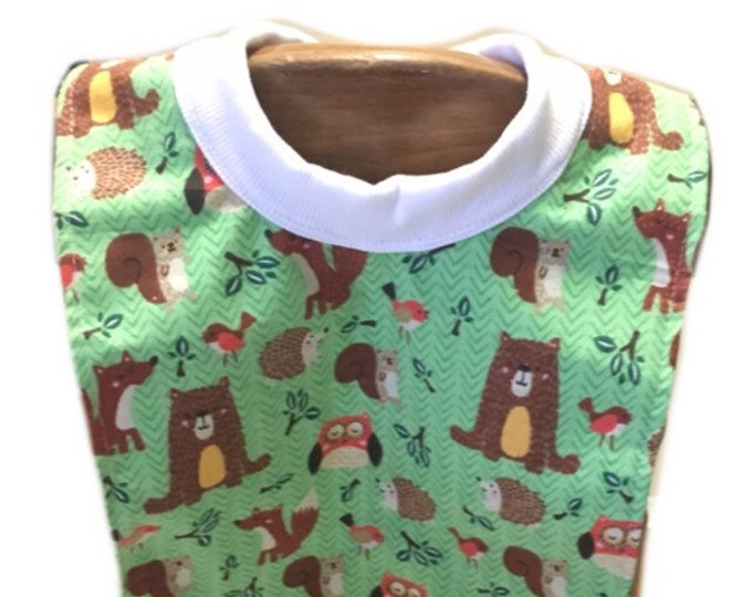 Large Pull Over Woodland Creatures Bib
