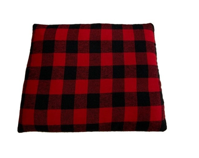 Medium Rice Heating Pad, Buffalo Plaid, Small Microwave Heat Pad, Heating Pad, Rice Heating Pad, Headache Relief, Hot Cold Pad, Rice Bag, Re