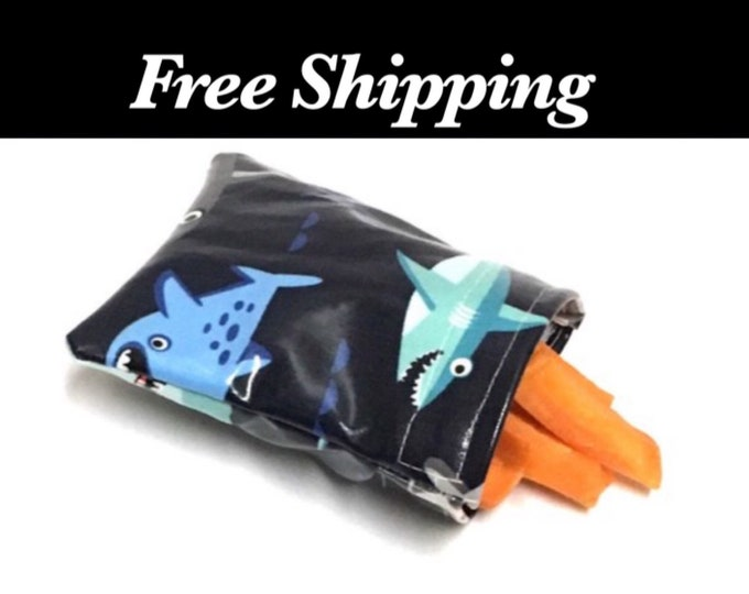 Shark Reusable Snack Bags