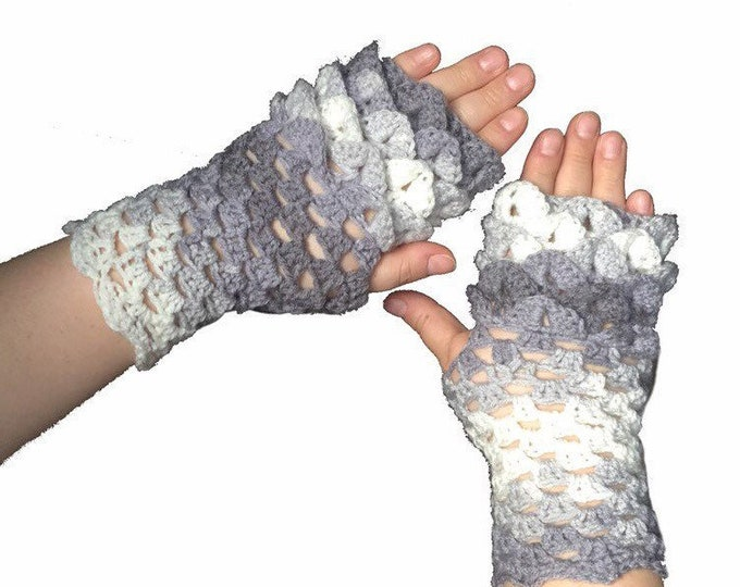 Dragon Scale Gloves, Fingerless Gloves