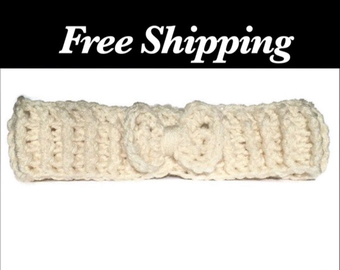 White Crochet Headband