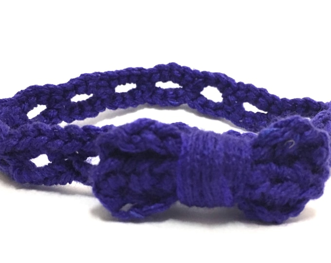Blue Stretchy Baby Headband