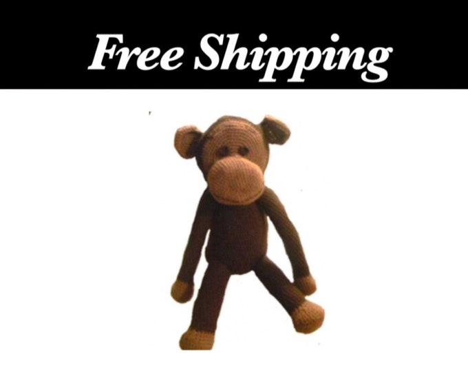 Large Crochet Monkey