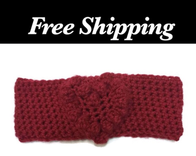 Red Heart Crochet Headband