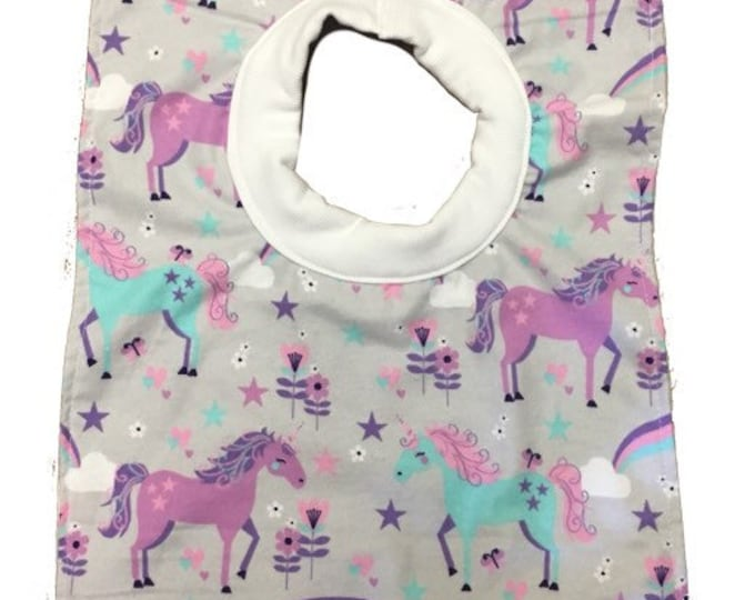 Unicorn Pull Over Baby Bib