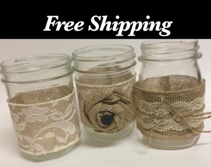 Mason Jar Wrap, Wedding Centerpieces