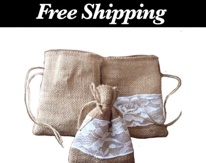 Burlap Party Favor Bags, Rustic Wedding Favors, Free Shipping, Favor Bags, Reusable Bags, Gift Bag, Small Gift Bag, Rustic, Gift Wrapping