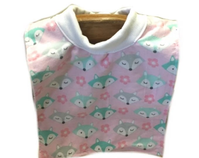 Large Pull Over Pink Fox Bib