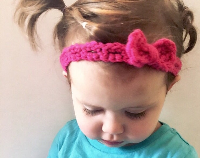 Red Stretchy Baby Headband