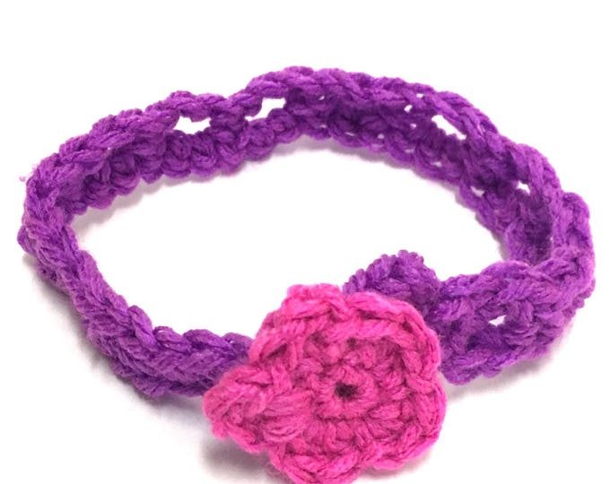 Pink and Purple Stretchy Baby Headband