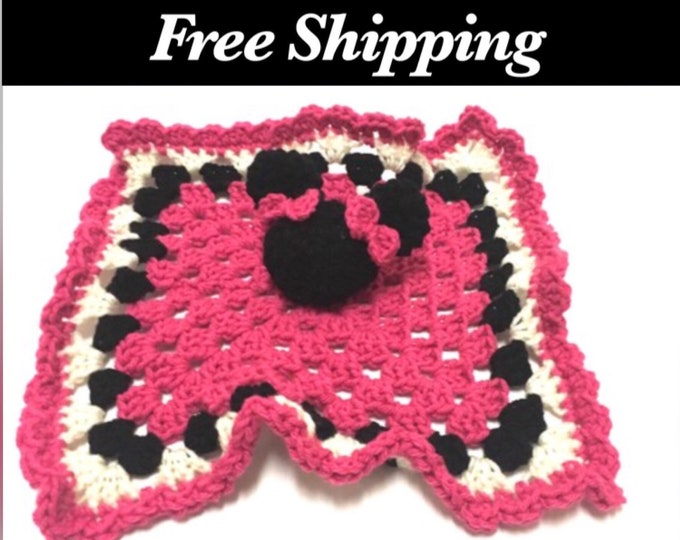 Crochet Minnie Mouse Inspired Lovey