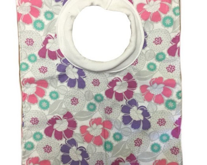 Flower Pull Over Baby Bib