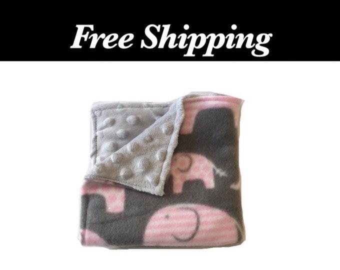 Elephant Minky Lovey Blanket