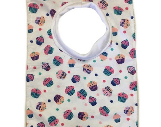 Large Pull Over Cupcake Bib