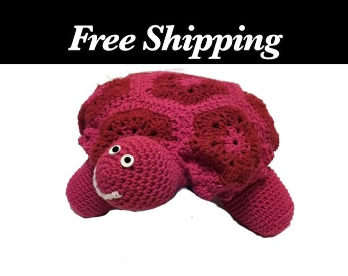Large Crochet Turtle
