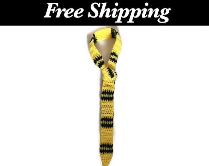 Black and Yellow Necktie