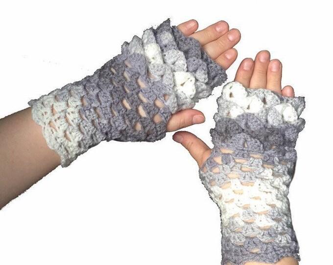 Dragon Scale Gloves, Fingerless Gloves