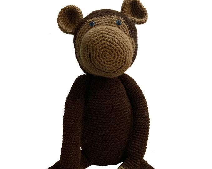 Large Crochet Monkey