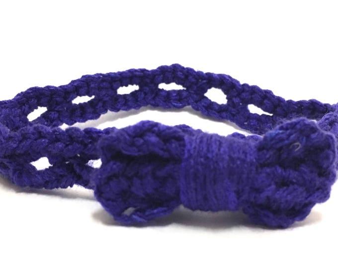 Blue Stretchy Baby Headband