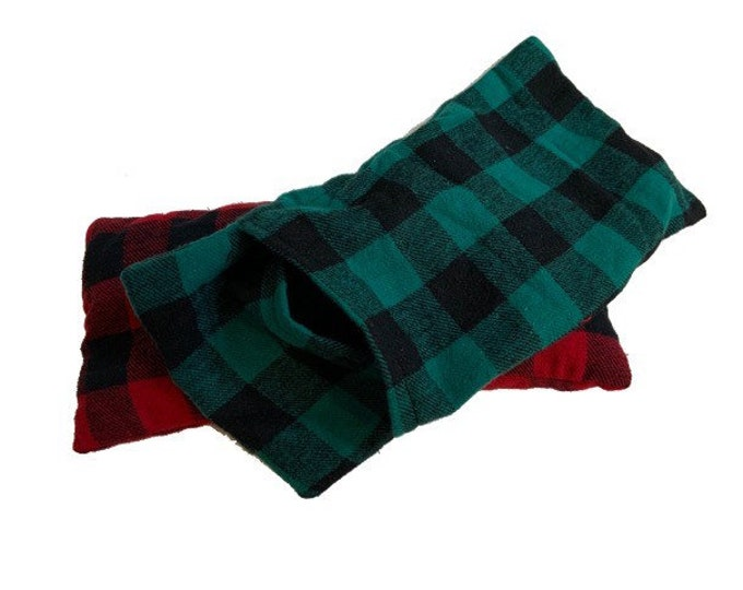 Medium Rice Heating Pad with Cover, Removable Cover, Buffalo Plaid, Heating Pad, Rice Heating Pad, Headache Relief, Hot Cold Pad, Rice Bag
