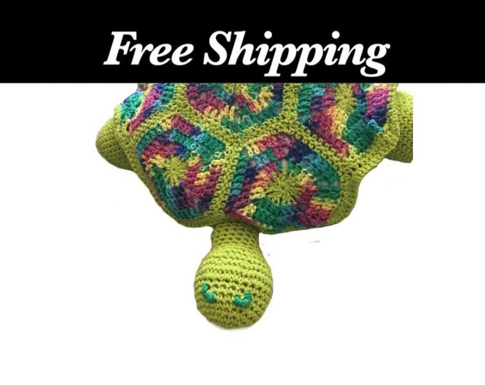 Weighted Crochet Turtle, Turtle, Sensory Toy