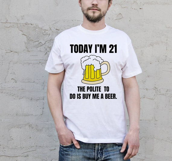 21st Birthday Gift For Him Custom Shirt Cheers And