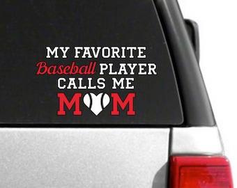 Baseball Mom Decal, Baseball mom, Baseball, Sports mom, car decal, car sticker, car accessories, car decor, vinyl decal, sports, mom gift