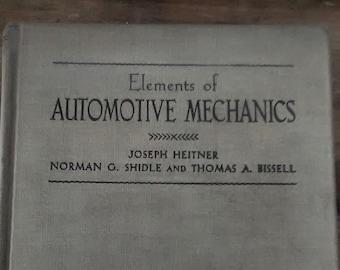 Elements of AUTOMOTIVE MECHANICS
