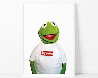 a41b99489671 Kermit The Frog Supreme Print Supreme X Kermit Street Urban Print Supreme  Kermit The Muppets Supreme Kermit The Frog Pupper Kermit