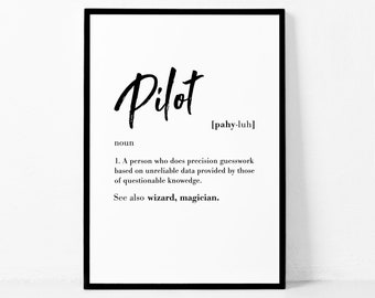 Funny Pilot Quotes Etsy