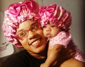 Mommy and Baby Satin Bonnets e88341ce3f7