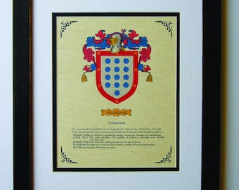 HERALDRY COAT OF ARMS ~ VELAZQUEZ FAMILY CREST ~ FRAMED