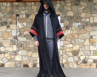 2a01c33afe Sith acolyte robe with wrinkle realease fabric and hand painted red stripes  on sleeves cosplay robe Star Wars cosplay darkside