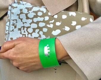Leather Bracelets  2 color in 1 bracelet