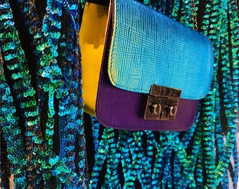 GRACE leather bag Turquise